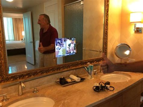 tv for bathrooms reviews tv embedded in bathroom mirror picture of trump