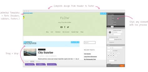 create your own wordpress theme with themify flow wp mayor