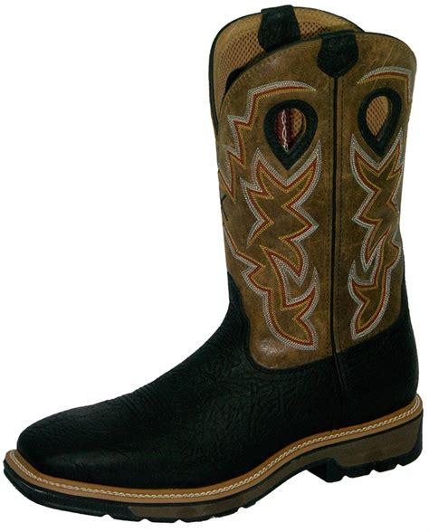 Sepatu Country Boots Slipon 61 twisted x cowboy pull on work boots steel toe mlcs005