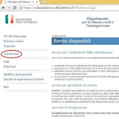 ministero dell interno cittadinanza registrazione il portale dell immigrazione e degli immigrati in italia