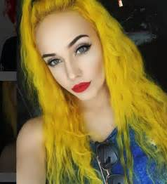 yellow hair color 17 best ideas about yellow hair dye on yellow