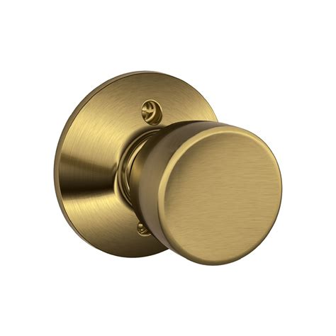 Dummy Door Handle by Shop Schlage F Bell Antique Brass Dummy Door Knob At Lowes