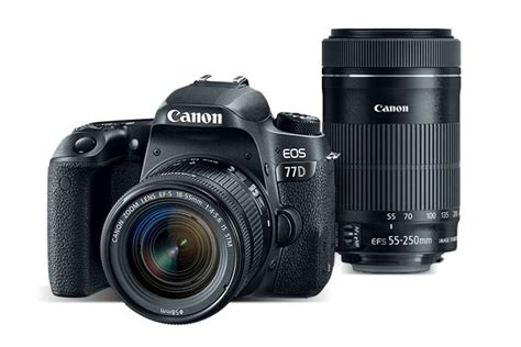 Canon Eos 77d Bo canon eos 77d bundle with ef s 18 55 is stm and ef s 55 250 is stm lens kit canon