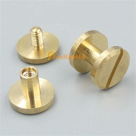 10mm brass flat solid button stud nail chicago