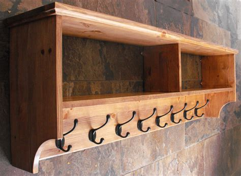 Wood Coat Rack With Shelf by Wide Hat Coat Rack With Shelf Wall Mounted Solid Wood