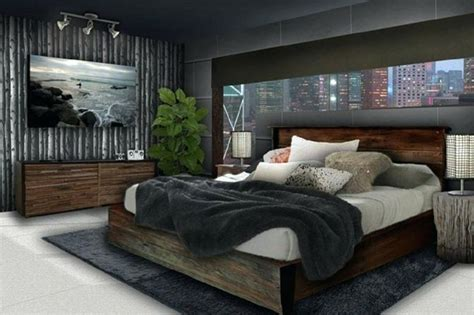 young man bedroom furniture bedroom ideas  young adults men  hanging lamp