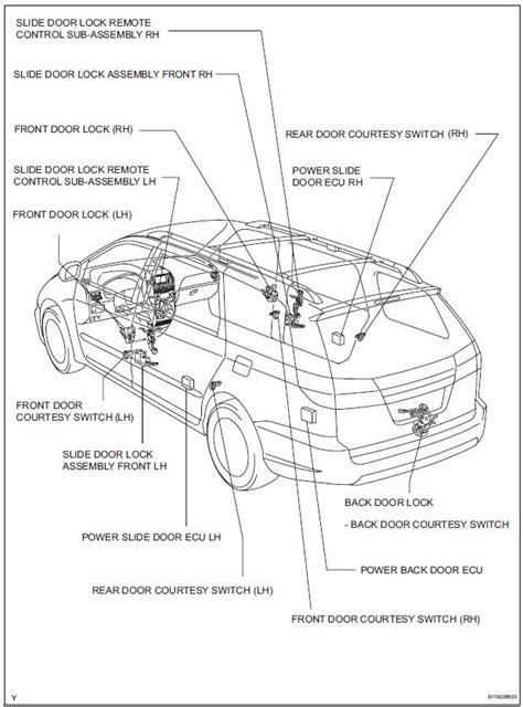 toyota sienna rear door parts diagram view toyota free engine image for user manual download toyota sienna service manual parts location wireless door lock control system door lock