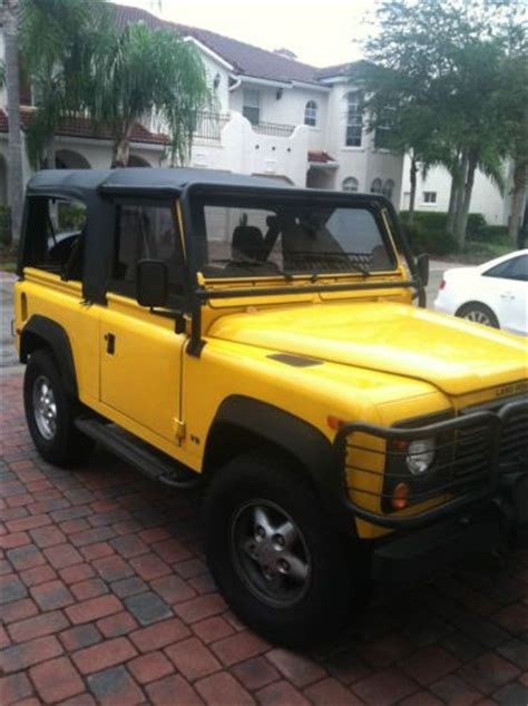 manual cars for sale 1995 land rover defender parental controls purchase used amazing 1995 land rover defender 90 manual transmission low mileage 53 000 in