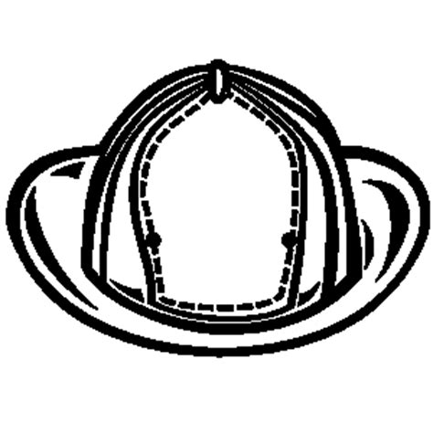 Firefighter Helmet Outline by Hat Clipart Clipart Panda Free Clipart Images
