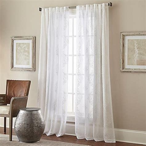 white back tab curtains talia rod pocket back tab sheer window curtain panel in