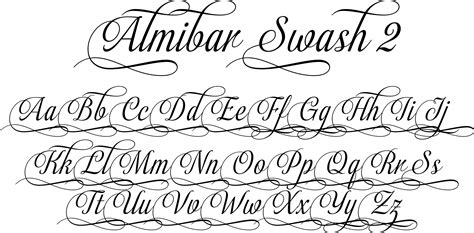tattoo fonts elegant script fonts about almibar is a delicate and