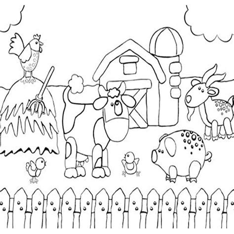 farm coloring pages farm animals and farm theme coloring pages suitable for