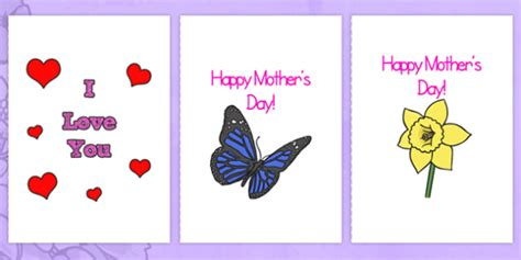 mothers day card template doc mothers day card templates a4 s day blank card