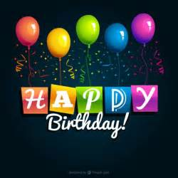 Happy birthday balloon and sparkling graphic imagefully com