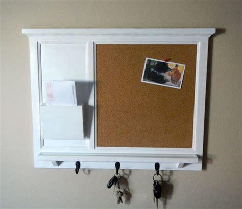 shabby chic key rack cork board mail organizer letter holder key coat hat rack shabby chic home decor