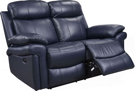 milano blue leather reclining sofa shae joplin blue leather power reclining loveseat from