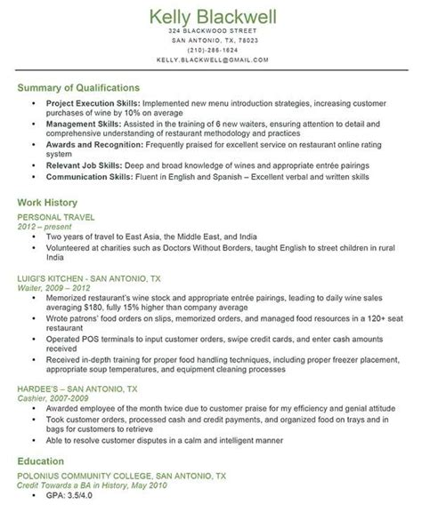 exle of combination resume combination resume exle back to work