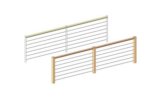 Wire Handrail Systems Generic Metal Railings Bim Objects Families