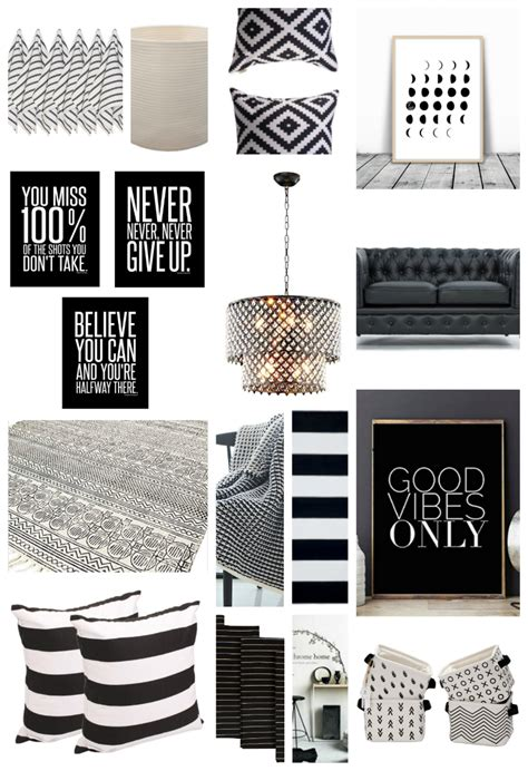 black home decor 22 black and white home decor pieces you ll love thirty