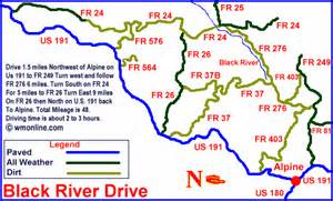 black river arizona map black river drive