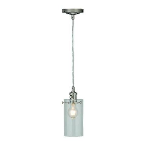 Home Depot Kitchen Island Pendant Lights Home Decorators Collection 1 Light Clear Glass Ceiling