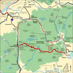 kancamagus scenic byway map america s byways