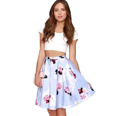 Dress Set womens crop top floral print skirt summer casual 2 pcs