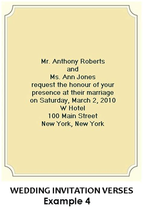 Correct Wording For Wedding Invitations by Invitation Wording Etiquette