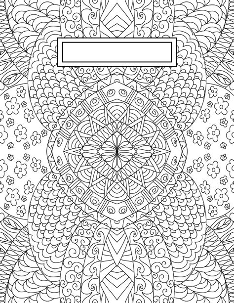 printable binder cover pages back to school binder cover adult coloring pages