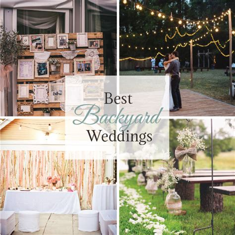 best backyard weddings linentablecloth