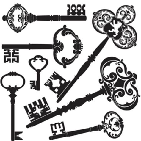 clipart fashion heart old keys mix free images at clker com vector clip art