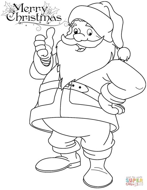 easy santa coloring pages easy santa claus coloring merry christmas happy new