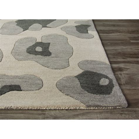 animal pattern rugs jaipur rugs modern animal print pattern gray wool area rug ngt03 rect rugmethod