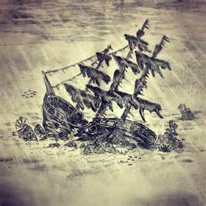shipwreck tattoo sketch by ranz pinterest urca de