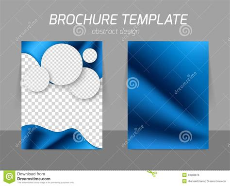 Blue Flyer Template Design Stock Vector Image 43308876 Blue Flyer Template
