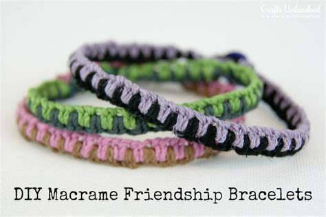 Simple Macrame Bracelet Patterns - friendship bracelets easy diy macrame tutorial