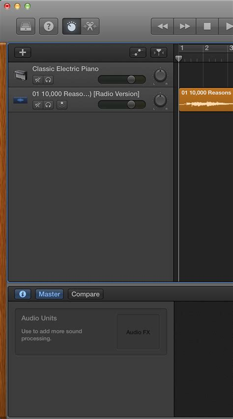 Garageband Transpose Use Garageband To Transpose A Song Imported From Itunes
