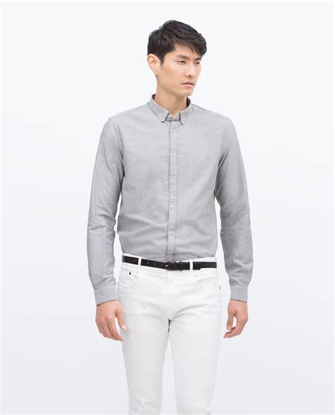 Dr Derick Khaki zara sleeve shirt in gray for lyst