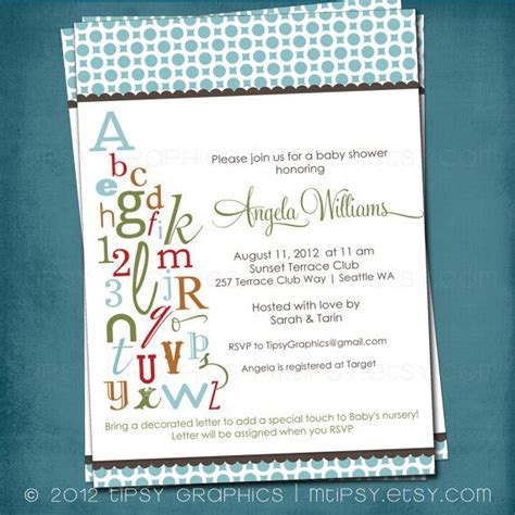 Alphabet Baby Shower Invitations by 10 Best Alphabet Bridal Shower Images On