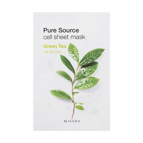 body comfort pure source missha pure source cell sheet mask green tea the
