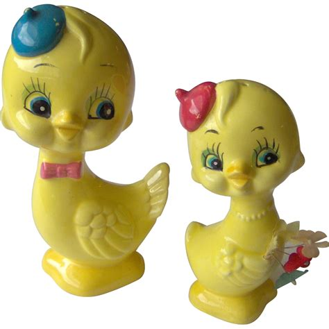 large salt l large chicken salt and pepper shakers from shopwithelaine