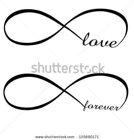 infinite tattoo vector infinity love forever symbol ilustra 231 227 o vetor stock
