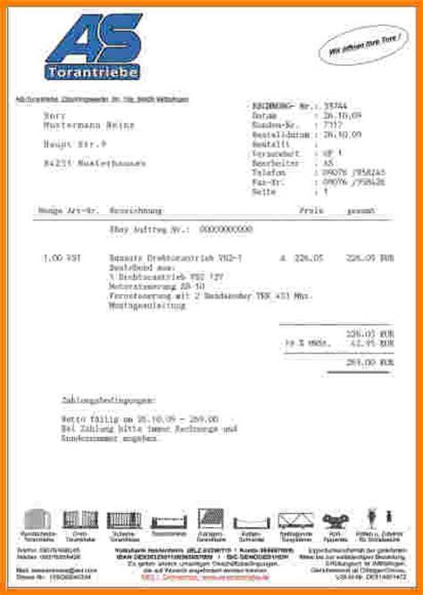 Muster Rechnung Ausfuhrlieferung 7 vorkasse rechnung muster lesson templated