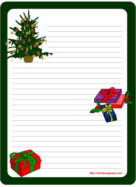11 Best Photos Of Free Printable Christmas Stationery Templates Christmas Letter Head Free Free Santa Letter Template Microsoft Word
