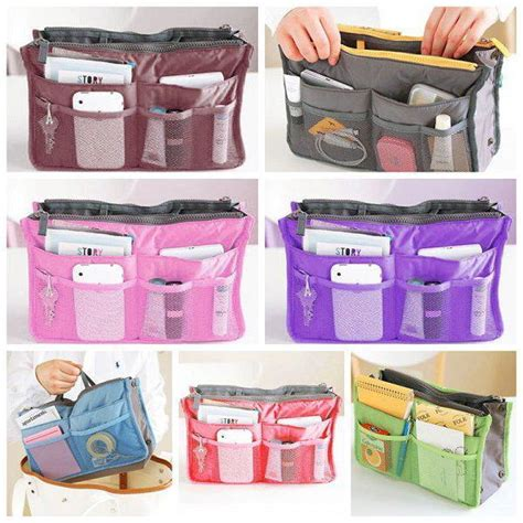 Korean Duals Bag Purse Organizer Bag In Bags dual organizer handbag insert phone cosmetic storage tote bag in bag 6l ebay