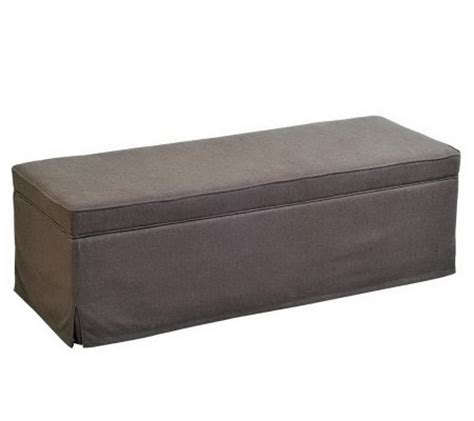 skirted storage bench handy living skirted linen storage bench ottoman qvc com