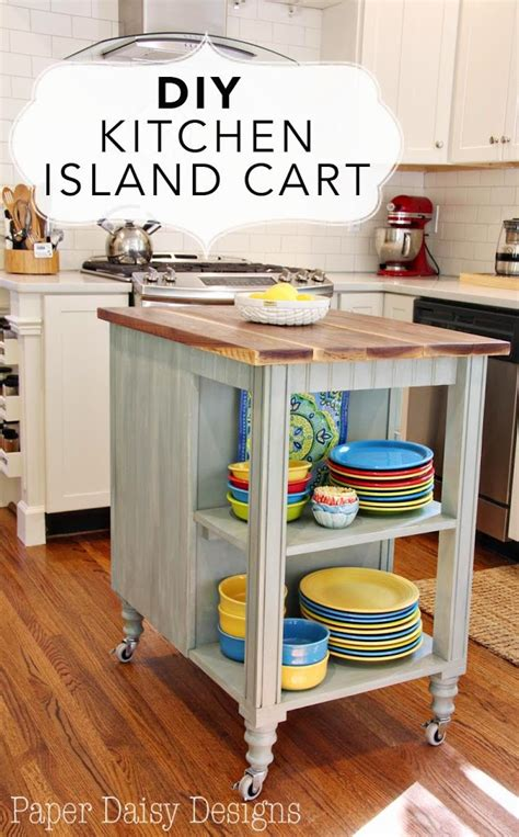 how to build a small kitchen island diy kitchen island cart