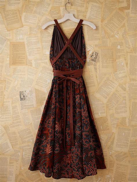 Dress Batik 05 Orange lyst free vintage batik printed maxi dress in orange