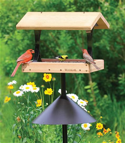 platform fly thru tray wild bird feeders