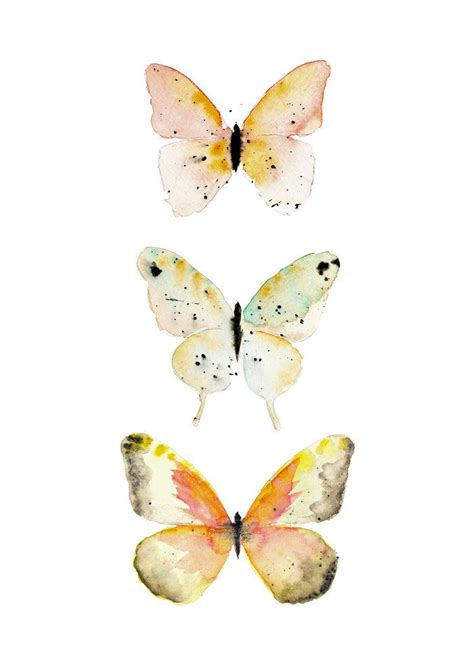 5 x 7 watercolor butterfly print by snoogsandwilde on etsy